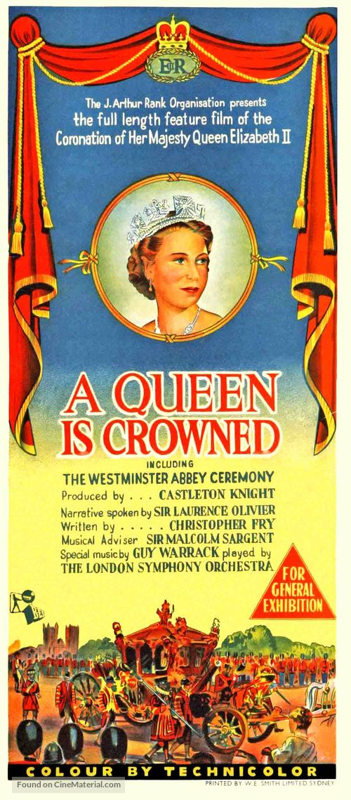 A Queen Is Crowned - Australian Movie Poster