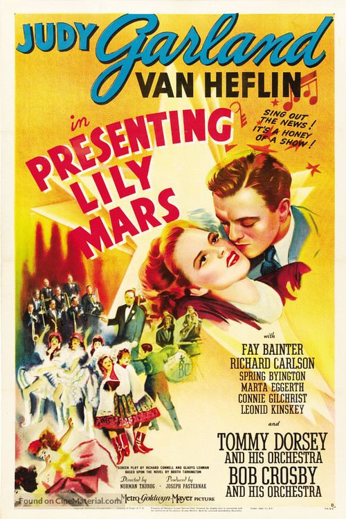 Presenting Lily Mars - Movie Poster