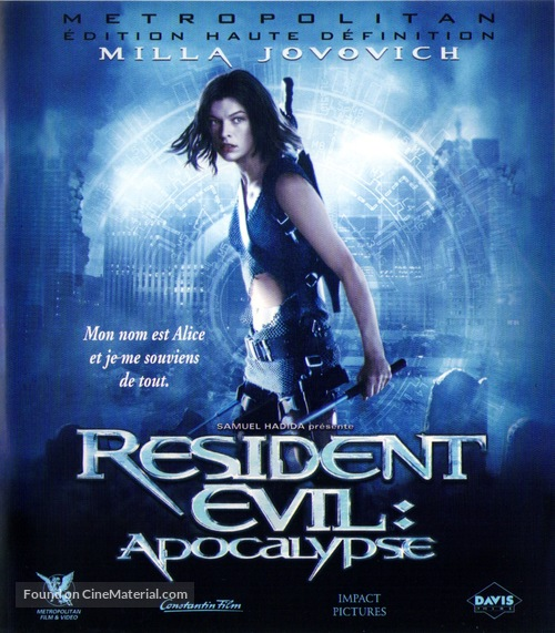 Resident Evil: Apocalypse - French Blu-Ray movie cover