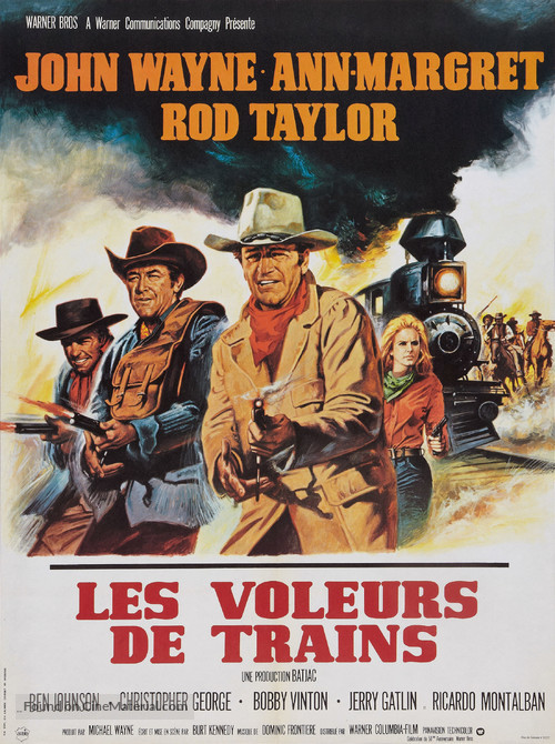 The Train Robbers - French Movie Poster