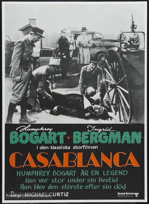 Casablanca - Swedish Movie Poster