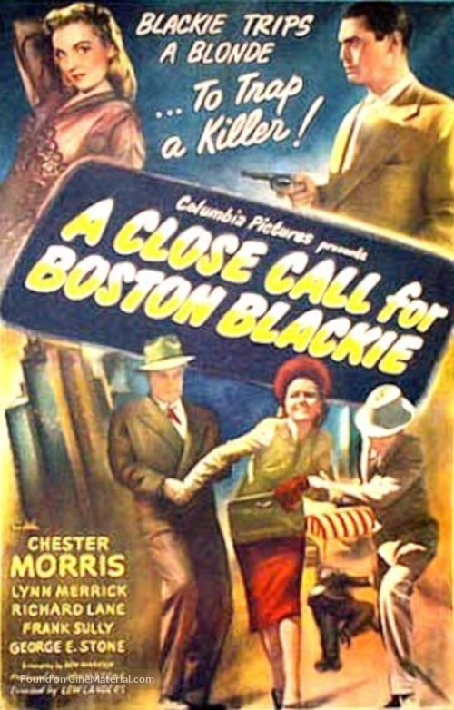 A Close Call for Boston Blackie - Movie Poster