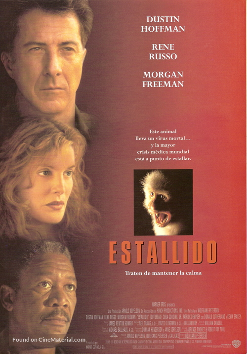 Outbreak - Spanish Theatrical movie poster