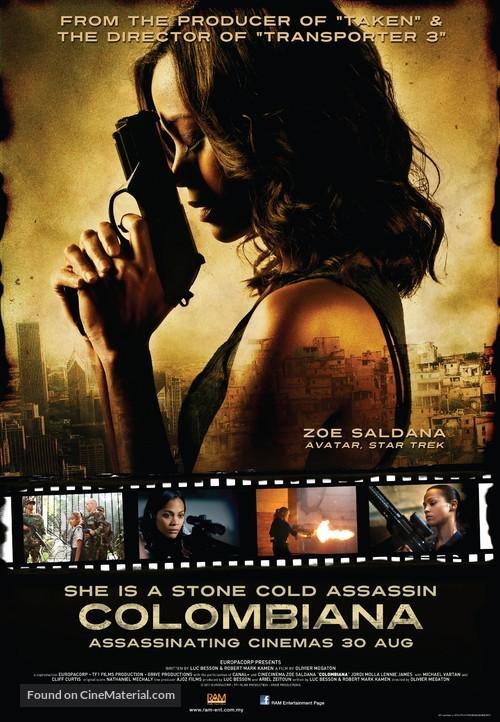 Colombiana - Malaysian Movie Poster