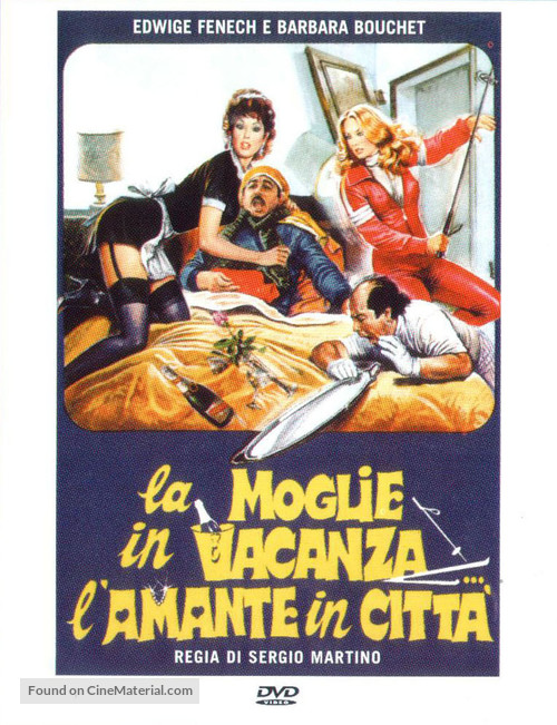 La moglie in vacanza... l'amante in città - Italian DVD movie cover