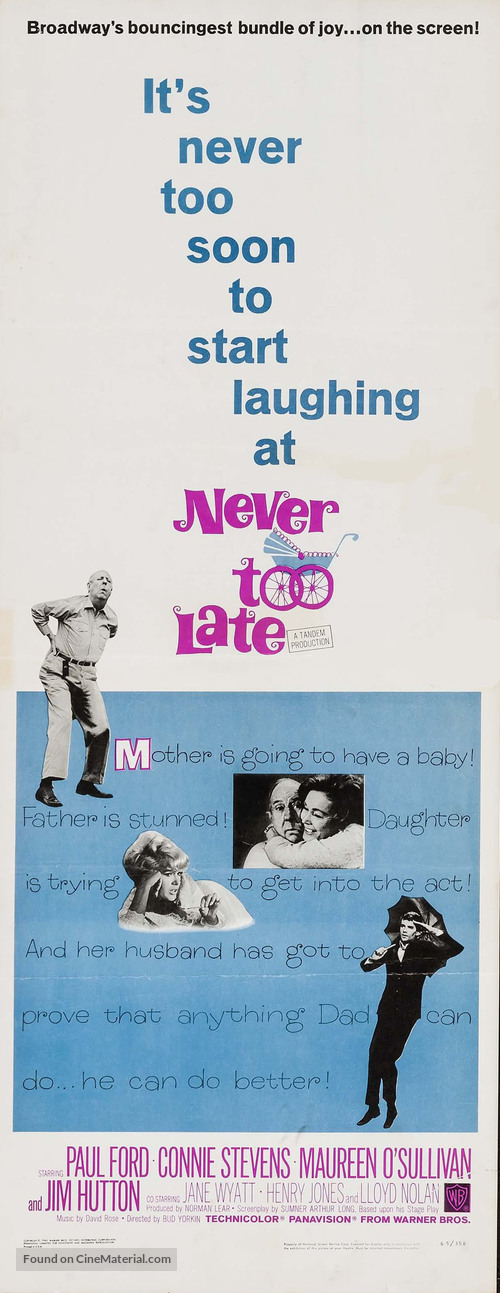 Never Too Late - Movie Poster