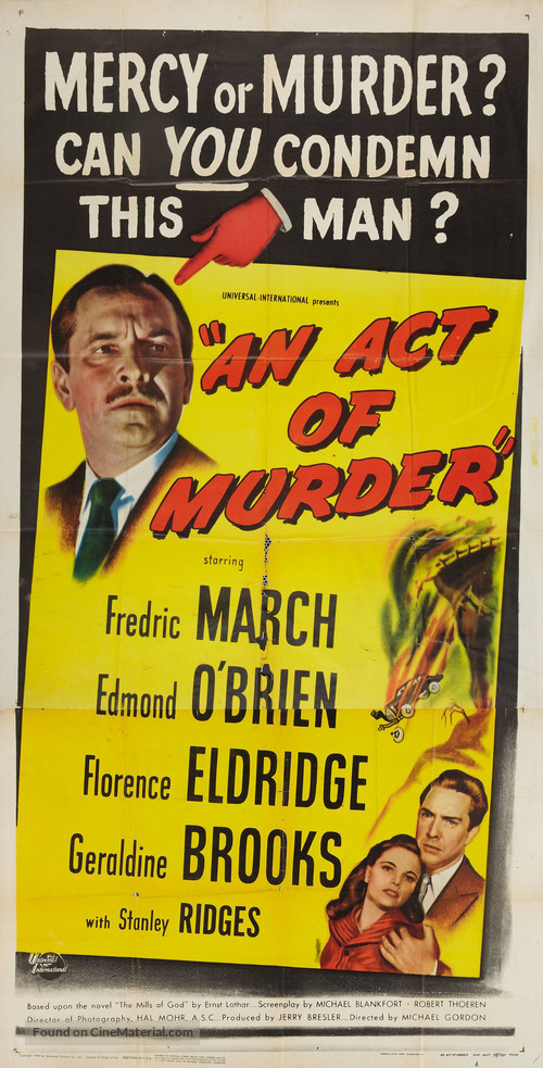 An Act of Murder - Movie Poster