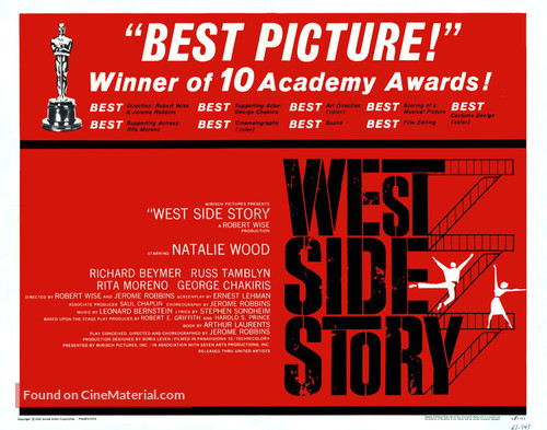 West Side Story - British Movie Poster