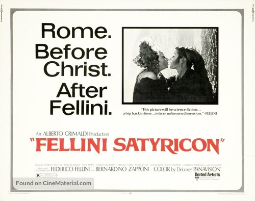 Fellini - Satyricon - British Movie Poster