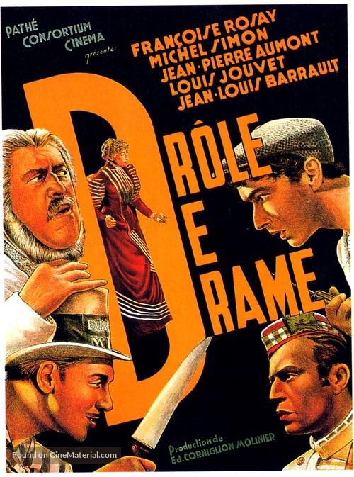 Drôle de drame ou L'ètrange aventure de Docteur Molyneux - French Movie Poster