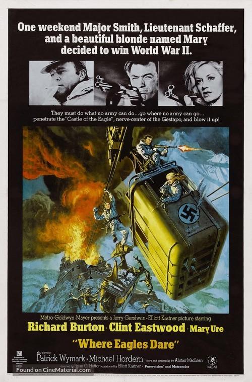Where Eagles Dare - Movie Poster