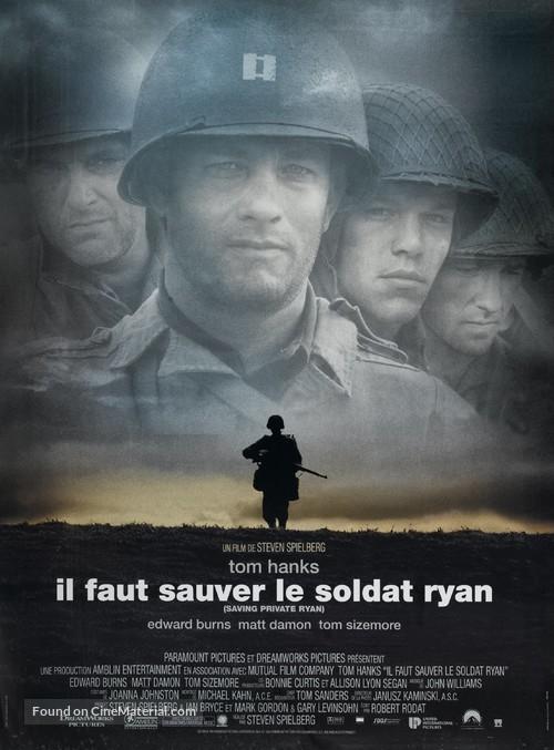 Saving Private Ryan - French Movie Poster