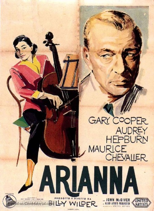 Love in the Afternoon - Italian Movie Poster