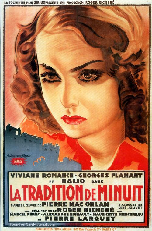 La tradition de minuit - French Movie Poster