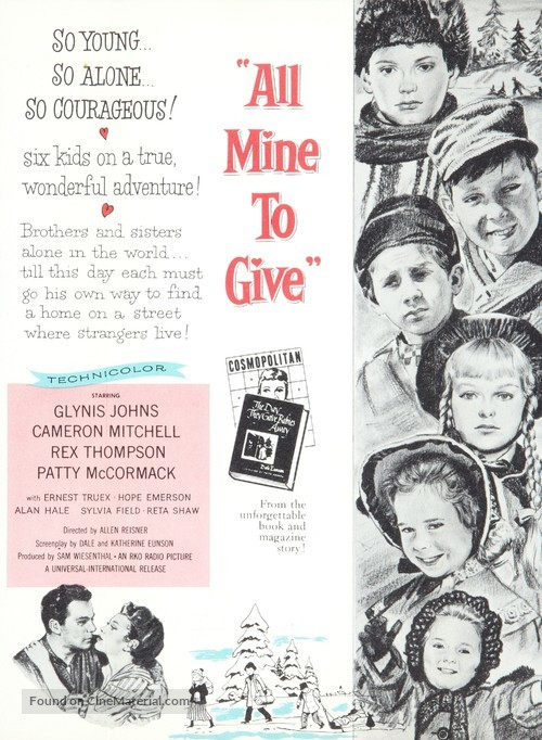 All Mine to Give - Theatrical movie poster