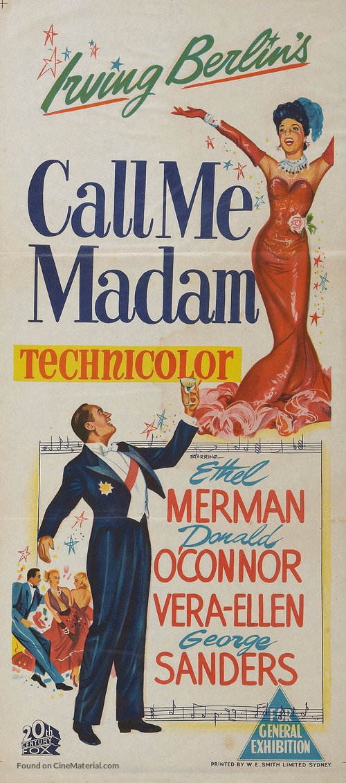 Call Me Madam - Australian Movie Poster