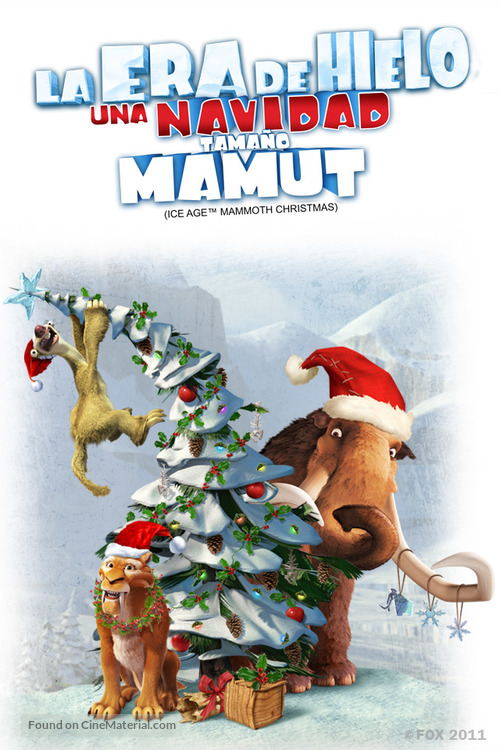 ice age a mammoth christmas mexican movie poster