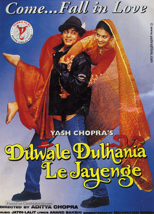 Dilwale Dulhania Le Jayenge - Indian Movie Poster