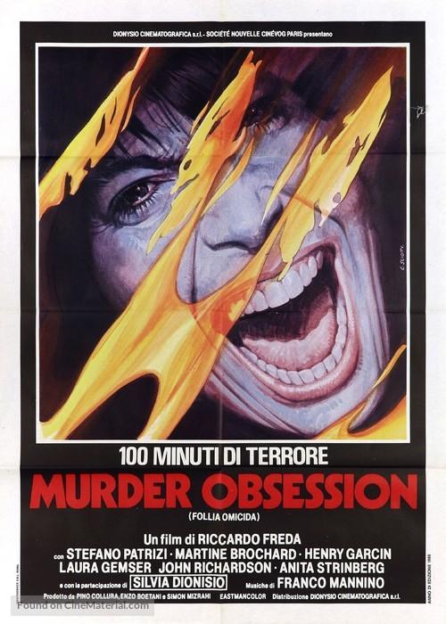 Murder obsession (Follia omicida) - Italian Movie Poster