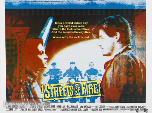 Streets of Fire - British Movie Poster