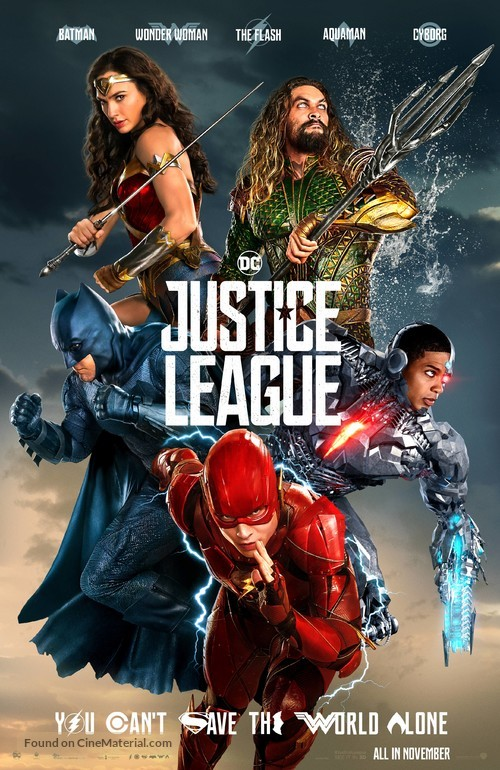 Justice League - British Movie Poster