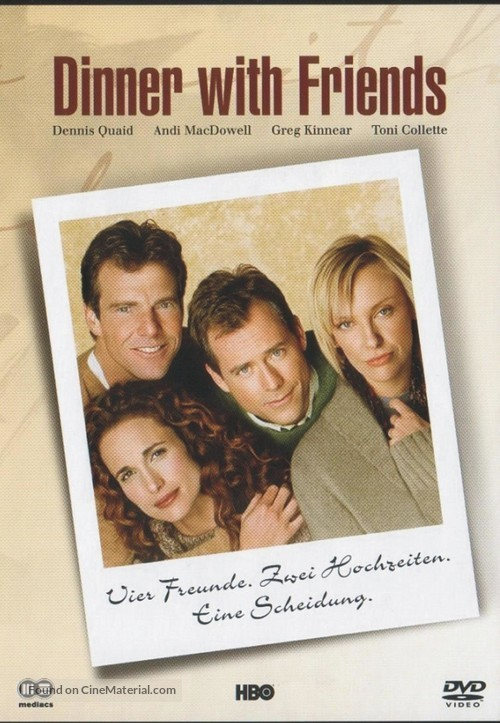 Dinner with Friends - German DVD movie cover