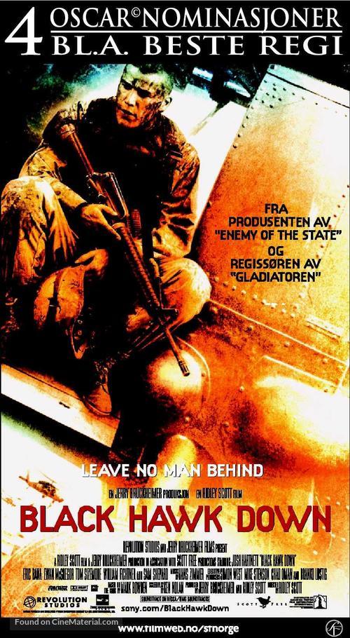 Black Hawk Down - Norwegian Movie Poster