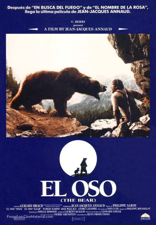 The Bear - Spanish Movie Poster