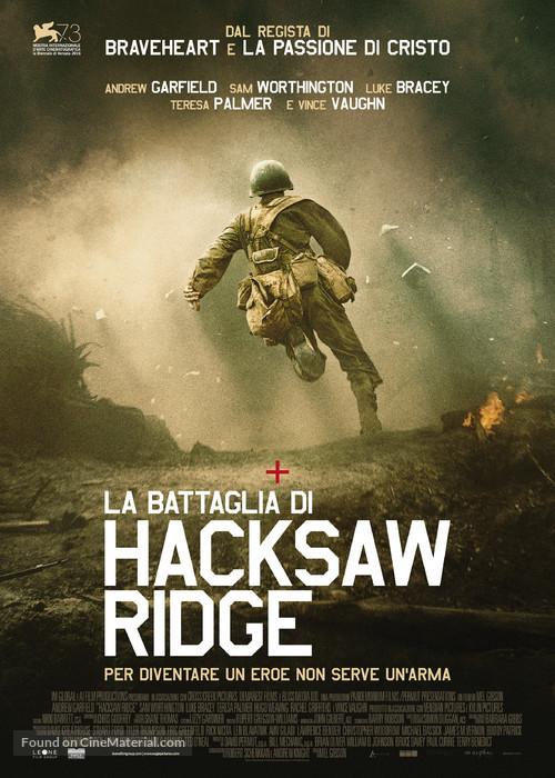 Hacksaw Ridge 2016 Italian Movie Poster