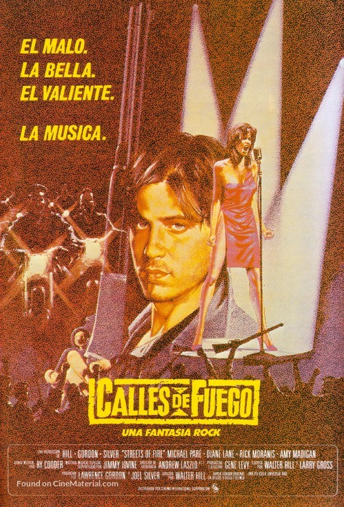 Streets of Fire - Spanish Movie Poster