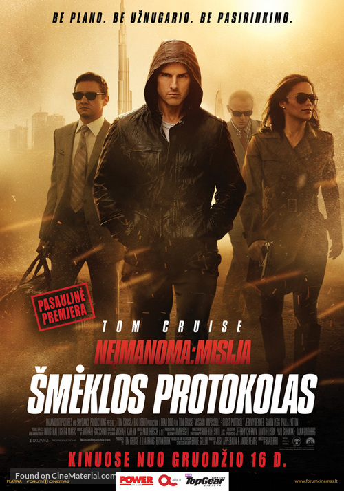 Mission: Impossible - Ghost Protocol - Lithuanian Movie Poster