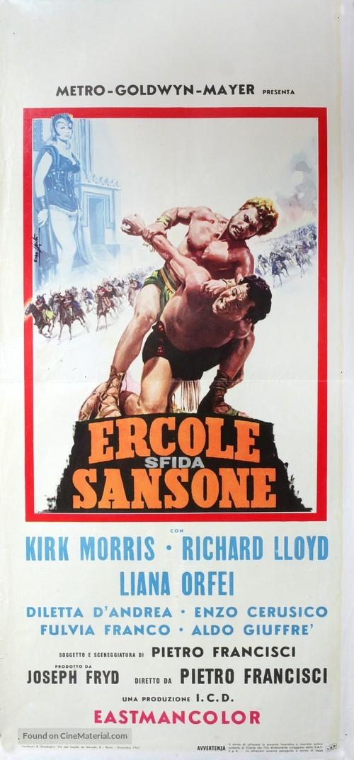 Ercole sfida Sansone - Italian Movie Poster