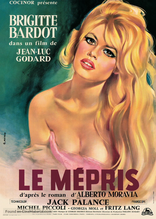 Le mépris - French Movie Poster
