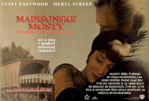 The Bridges Of Madison County - Czech Movie Poster