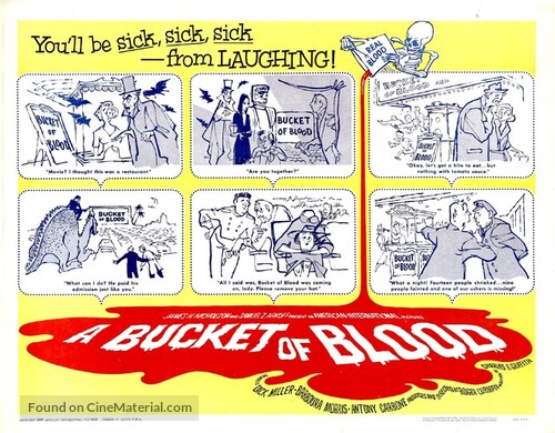 A Bucket of Blood - Theatrical movie poster