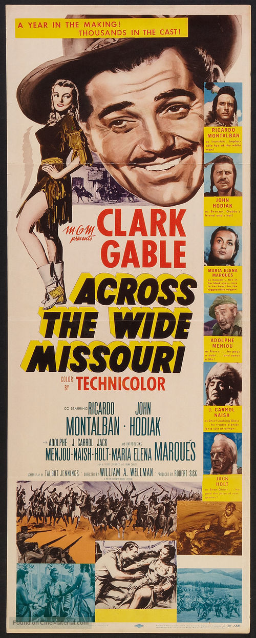 Across the Wide Missouri - Movie Poster