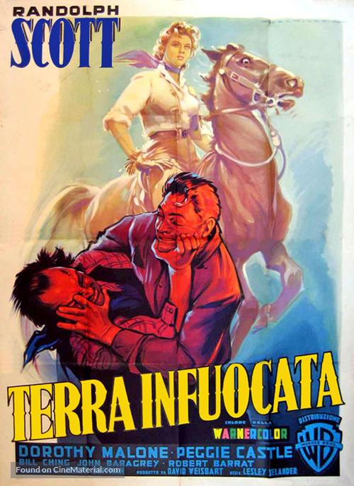Tall Man Riding - Italian Movie Poster