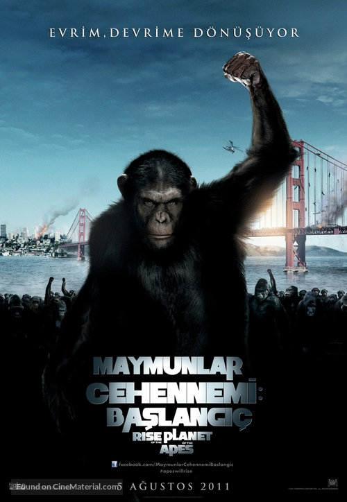 Rise of the Planet of the Apes - Turkish Movie Poster