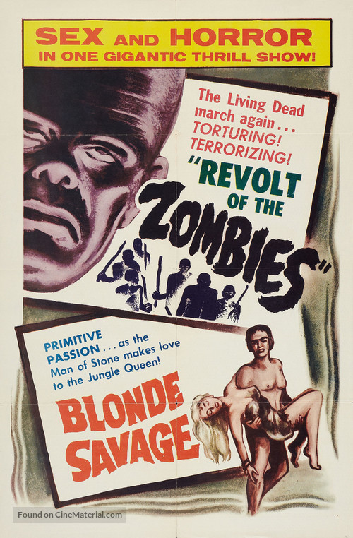 Revolt of the Zombies - Combo poster