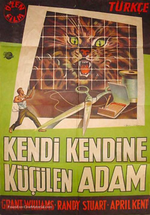 The Incredible Shrinking Man - Turkish Movie Poster