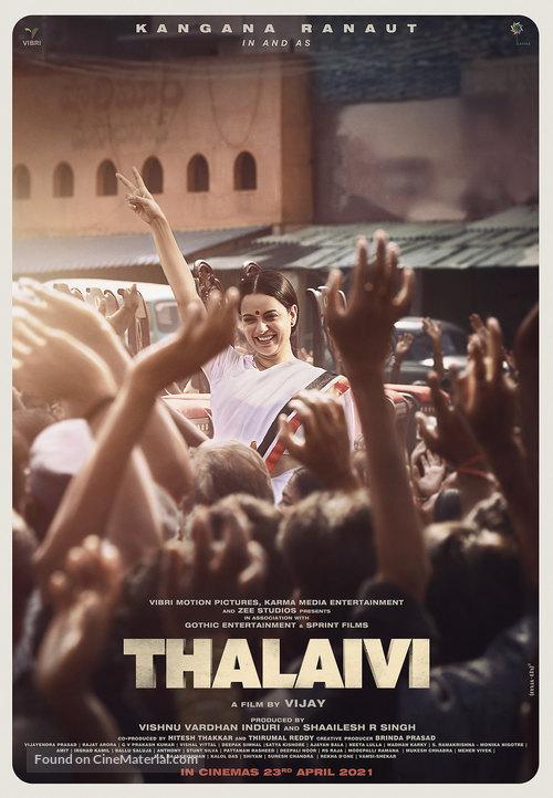 Thalaivi 2021 Hindi Movie 400MB NF HDRip 480p ESubs Free Download
