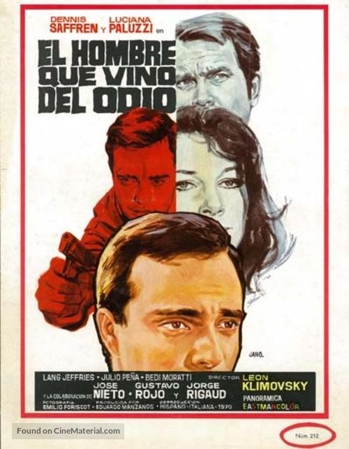 El hombre que vino del odio - Spanish Movie Poster