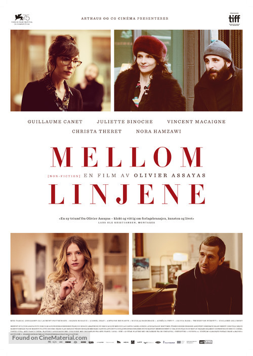 Doubles vies (2018) Norwegian movie poster
