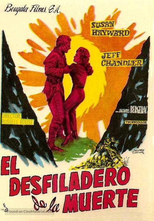 Thunder in the Sun - Spanish Movie Poster