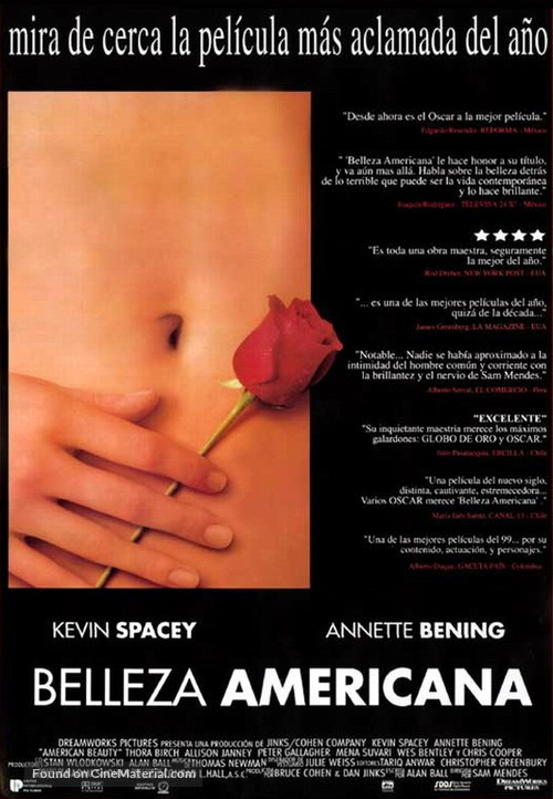 American Beauty - Mexican Movie Poster