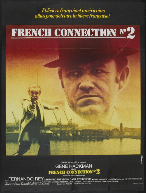 French Connection II - French Movie Poster