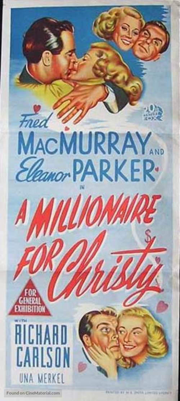 A Millionaire for Christy - Australian Movie Poster