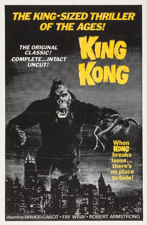 King Kong - Re-release movie poster