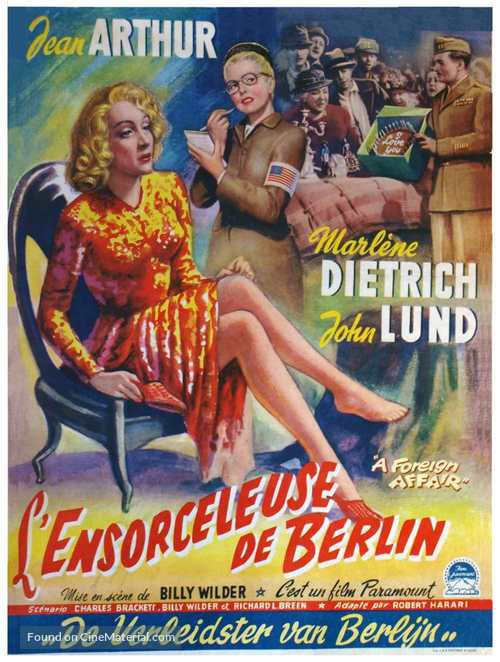 A Foreign Affair - Belgian Movie Poster
