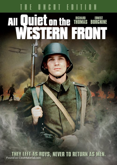 a description of a very special movie all quiet on the western front From here on we follow them through harsh training and into battle where they very quickly special effects, mainly all quiet on the western front is an.